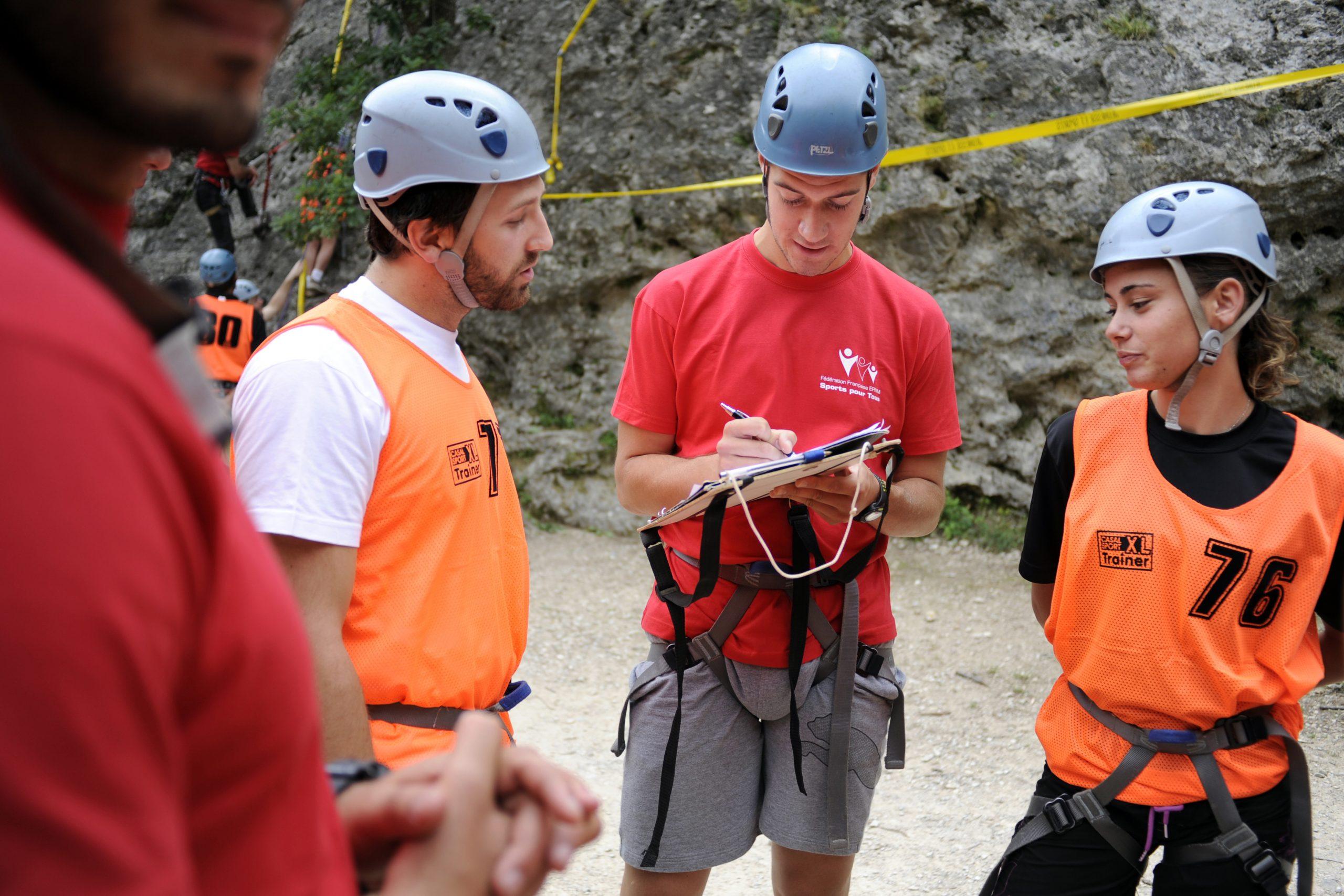Photos d'adeptes de l'escalade de Sports Pour Tous
